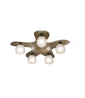 Ceiling 5 Light G9 ECO, Antique Brass