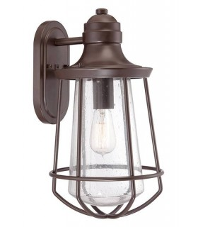 1 Light Large Outdoor Wall Lantern Western Bronze IP44