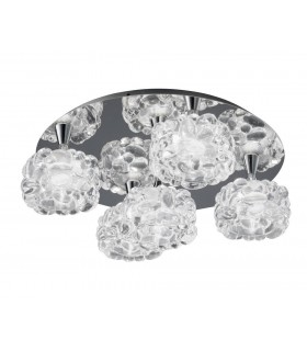 Flush Cluster Ceiling 5 Light G9, Polished Chrome