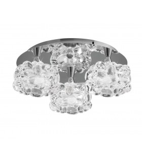 Flush Cluster Ceiling 3 Light G9 Small, Polished Chrome