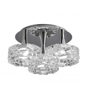 Flush Cluster Ceiling 3 Light E27 Large, Polished Chrome