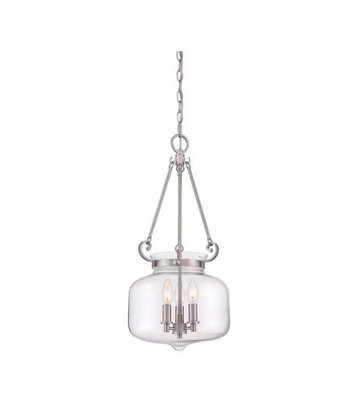 3 Light Ceiling Pendant Brushed Nickel
