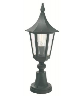 Rimini Outdoor Pedestal Lantern - Elstead Lighting R3 BLACK