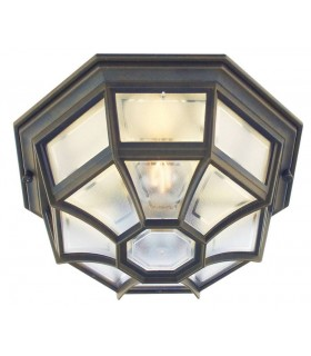 1 Light Outdoor Wall Lantern Light Black IP44, E27