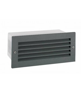 LED Outdoor Recessed Wall Light Graphite IP65