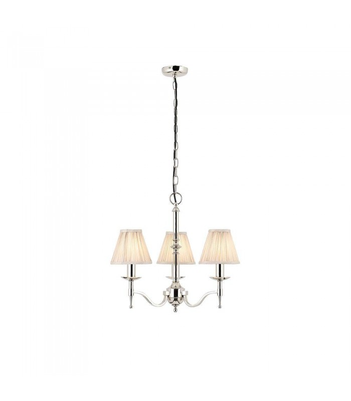 3 Light Multi Arm Ceiling Pendant Chandelier Polished Nickel