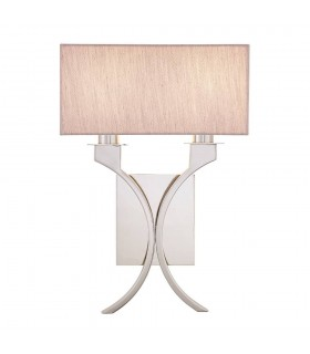 Vienna Twin Wall Light With Beige Shades - Interiors 1900 63749