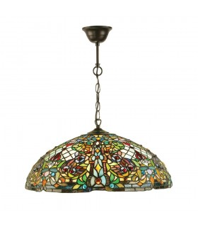 Anderson Tiffany Style Large Three Light Ceiling Pendant - Interiors 1900 63902