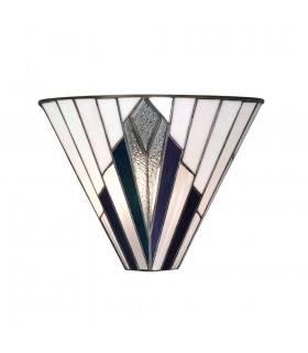 1 Light Indoor Wall Uplighter Tiffany Style Glass, E14
