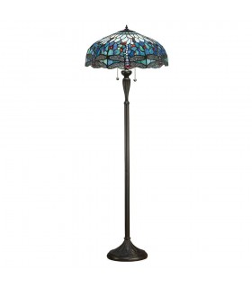 Dragonfly Tiffany Style Blue Floor Lamp - Interiors 1900 64069