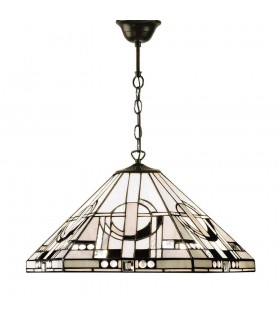 Metropolitan Medium Tiffany Style One Light Ceiling Pendant - Interiors 1900 64259