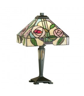 Willow Small Tiffany Style Table Lamp - Interiors 1900 64386