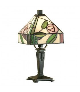 Willow Mini Tiffany Style Table Lamp - Interiors 1900 64388