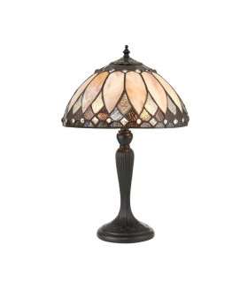 Brooklyn Small Tiffany Style Table Lamp - Interiors 1900 70366