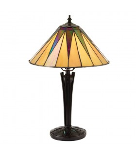 Dark Star Small Tiffany Style Table Lamp - Interiors 1900 70367