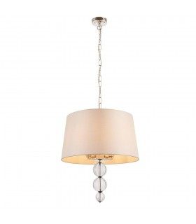 Darlaston Four Light Ceiling Pendant With Single Marble Silk Shade - Interiors 1900 70476
