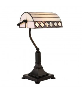 Fargo Tiffany Style Bankers Table Lamp - Interiors 1900 70908