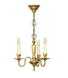 3 Light Multi Arm Ceiling Pendant Chandelier Solid Brass