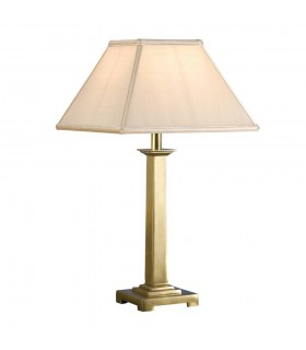 1 Light Table Lamp Solid Brass - Base Only