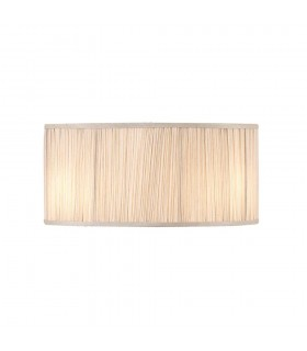 Beige & Polished Nickel 17 Inch Pleated Shade