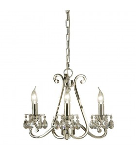 Oksana Nickel Three Light Ceiling Pendant - Interiors 1900 UL1P3N
