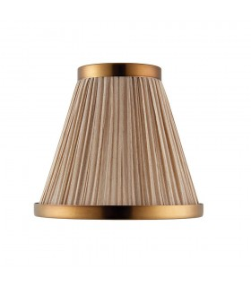 Beige And Antique Brass Six Inch Shade