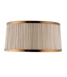 Beige And Antique Brass Thirteen Inch Shade