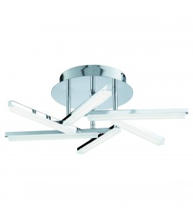 LED Flush Multi Arm Ceiling Light Chrome