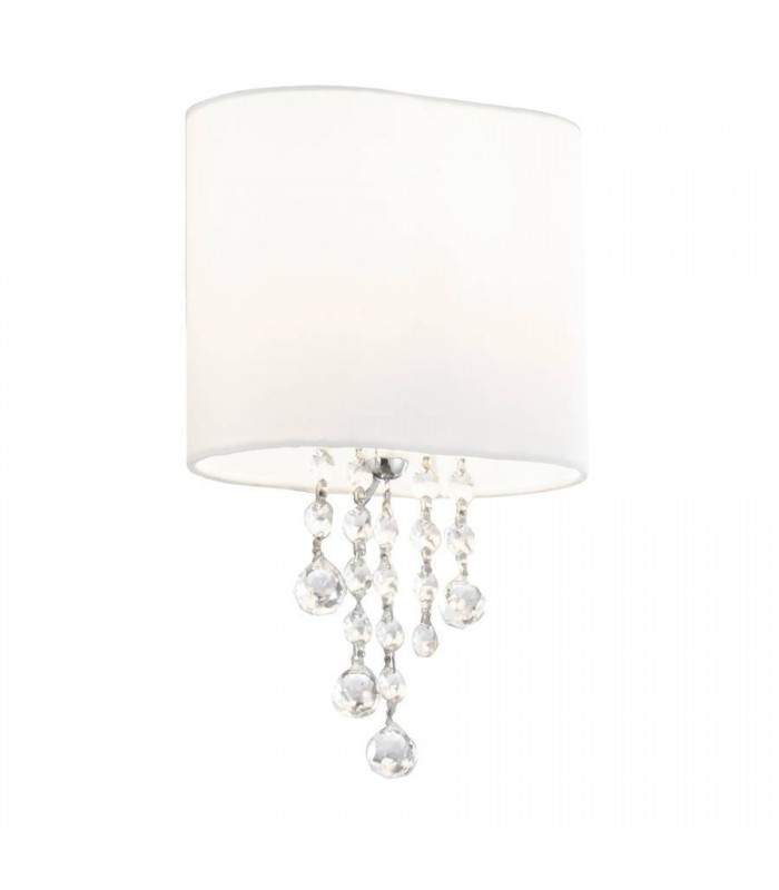 Nina Chrome And Crystal Wall Light With Shade - Searchlight 1051-1CC