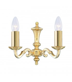 2 Light Indoor Wall Light Polished Brass