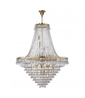 Versailles Gold Nineteen Light Chandelier With Crystals - Searchlight 9112-102GO