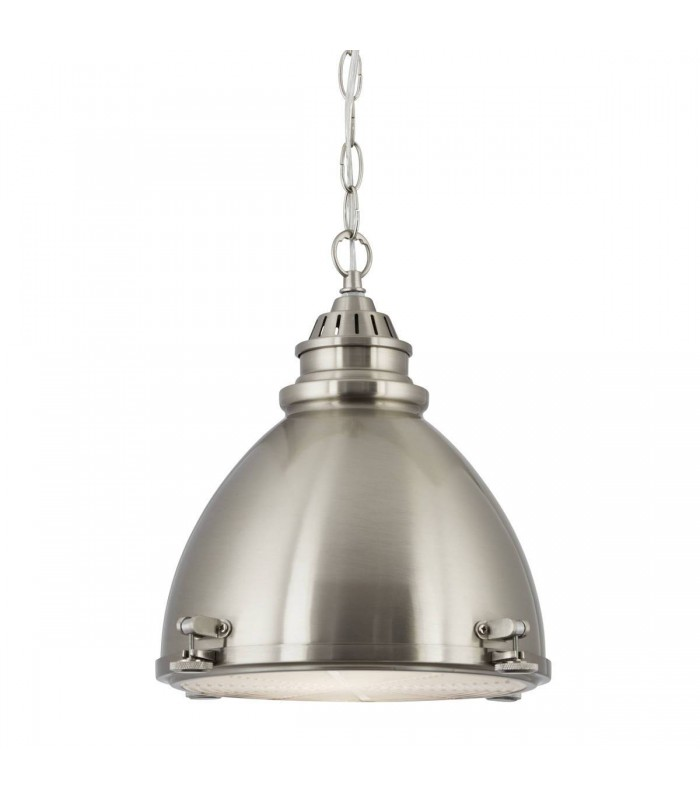 Satin Silver Pendant With Frosted Glass Diffuser - Searchlight 1294SS