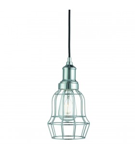 1 Light Wire Ceiling Pendant Chrome