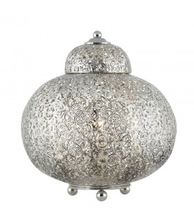1 Light Table Lamp Shiny Nickel