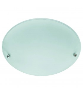 2 Light Ceiling Flush Light Chrome and Glass, E27