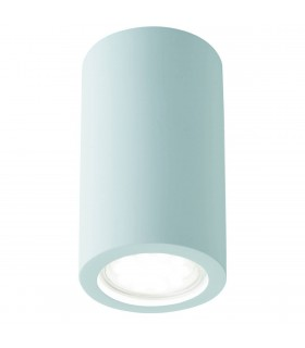 White Paintable Plaster Cylinder Wall Light