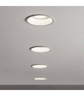 1 Light Recessed Ceiling Downlight White, GU10