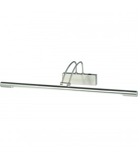 1 Light Adjustable Picture Wall Light Satin Silver
