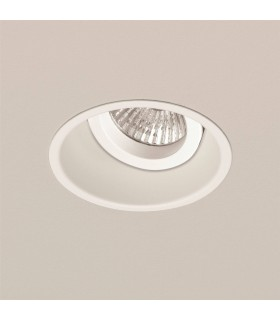 1 Light Adjustable Recessed Ceiling Downlight White, GU10