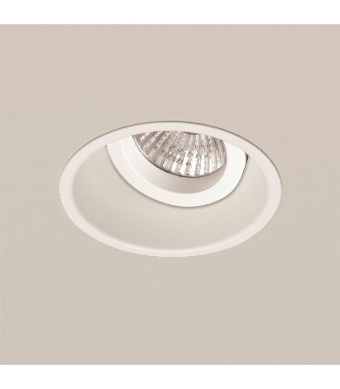1 Light Adjustable Recessed Ceiling Downlight White