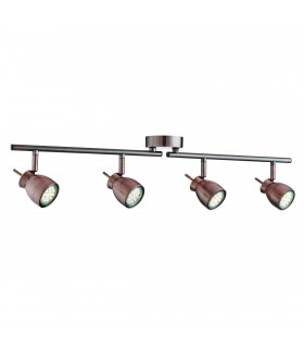 LED Adjustable 4 Light Spotlight Bar Copper, GU10