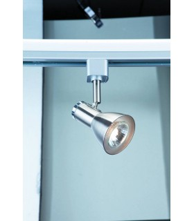 Spot And Track Satin Silver And Chrome Single Spotlight - Searchlight 3709SS