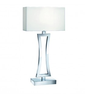 1 Light Table Lamp Chrome with Shade