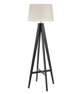 1 Light Floor Lamp Brown with Fabric Shade
