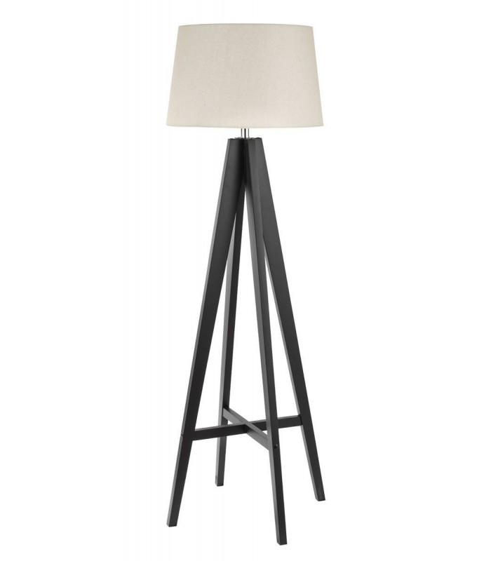 Tripod brown floor lamp with fabric shade searchlight 3540br aloadofball Image collections