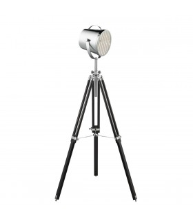 Adjustable Chrome And Black Stage Lamp