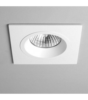 1 Light Square Recessed Spotlight White, GU10