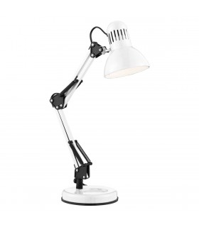 Single White Adjustable Desk Lamp - Searchlight 2429WH