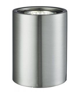 LED 1 Light Table Lamp Cylindrical Uplighter Satin Silver