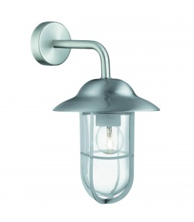 1 Light Outdoor Fisherman Dome Wall Light Stainless Steel IP44Glass Lanterns